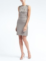 Banana Republic Embellished Sheath Dress