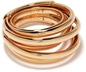 de Grisogono 18kt Rose Gold Coil Ring