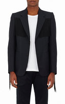 Gucci Men's Mohair-Wool Fringed Two-Button Sportcoat-BLACK