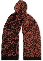 Cmmn Swdn Cotton, Merino Wool And Cashmere-blend Scarf - Orange