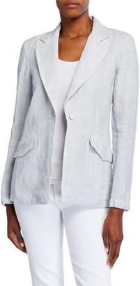 120% Lino Peak Lapel One-Button Linen Sport Coat