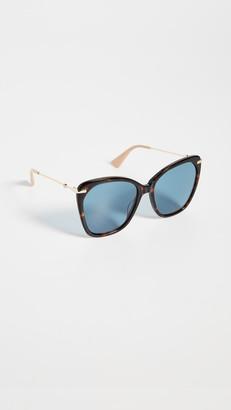Gucci Web Lock Oversized Cat Eye Sunglasses