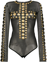 Amen stud-embellished bodysuit