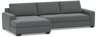 Pottery Barn Big Sur Square Arm Upholstered Sofa with Double Chaise Sectional
