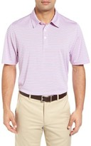 Cutter & Buck Men's Denny Stripe Drytec Moisture Wicking Polo