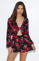 KENDALL + KYLIE Kendall & Kylie Twist Front Long Sleeve Romper
