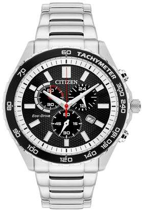 Citizen Men's Brycen Chronograph Sterling Silver Watch, 44mm