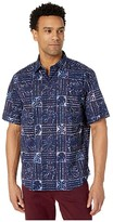 Tommy Bahama Sand Dollar Batik Short Sleeve Shirt (Island Navy) Men's Clothing