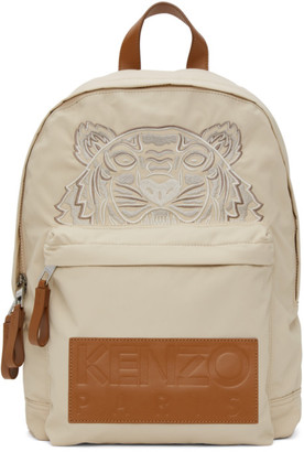 Kenzo Beige High Summer Capsule Collection Tiger Backpack