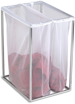 Container Store Double Laundry Bag Stand Chrome