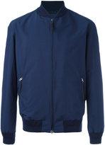 Ermenegildo Zegna zip up bomber jacket - men - Lamb Skin/Polyamide/Polyester - 48