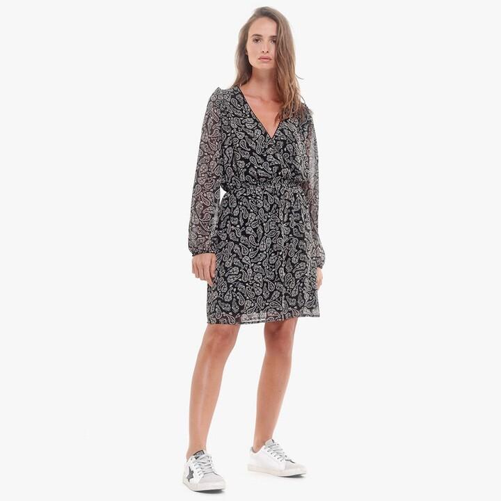 Thumbnail for your product : Le Temps Des Cerises Paisley Print Mini Dress