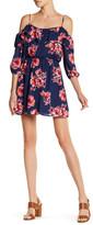 As U Wish Cold Shoulder Floral Print Dress