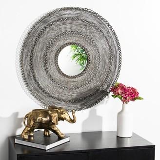 """Safavieh Dalston Zinc 30-inch Round Decorative Mirror - 29.5"""" x 3"""" x 29.5"""""""