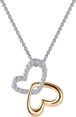 Lafonn Two-Tone Hearts Pendant Necklace