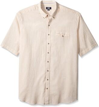 Cutter & Buck Men's Big and Tall Short Sleeve Cove Stripe Shirt