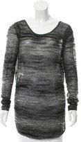 Helmut Lang Mohair & Wool-Blend High-Low Sweater