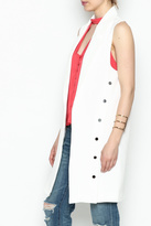 Jealous Tomato Long White Blazer