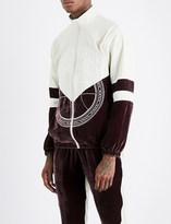 Astrid Andersen Embroidered-logo shell and velvet track jacket