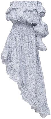 Cc By Camilla Cappelli Celeste Asymmetrical Cotton Dress