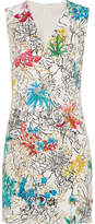 Peter Pilotto Printed Crepe Mini Dress - White