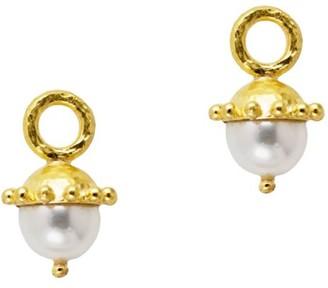 Elizabeth Locke 19K Yellow Gold & 8-8.5MM White Pearl Drop Earrings