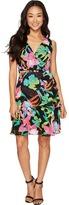 Tahari by Arthur S. Levine Petite Floral Chiffon Faux-Wrap Dress Women's Dress