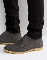 Grey Suede Chukka Boots - ShopStyle