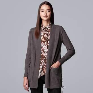 Vera Wang Women's Simply Vera Lace Up Cardigan
