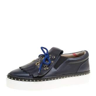 Burberry Blue Leather Trainers