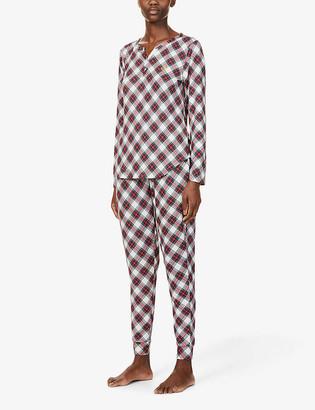 Lauren Ralph Lauren Plaid stretch-woven pyjama set