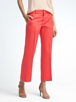 Banana Republic Logan-Fit Cropped Linen-Blend Pant