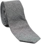 Isaac Mizrahi Black Linen Tie