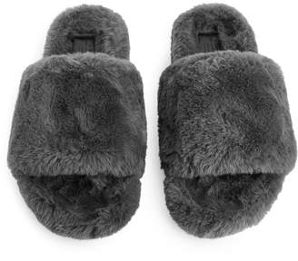 Arket Faux Fur Slide Sandals