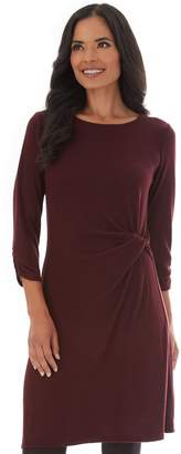 Apt. 9 Petite Twisted-Waist Sweater Dress