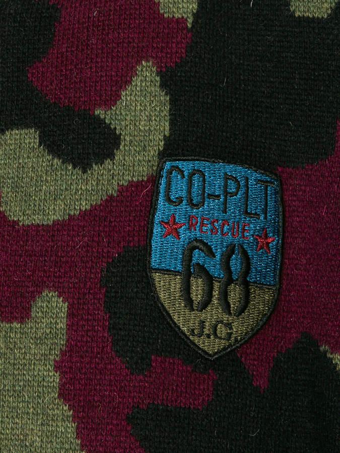 John Galliano camouflage bomber jacket