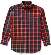 Roundtree & Yorke Casuals Long-Sleeve Flannel Multi Windowpane Plaid Sportshirt