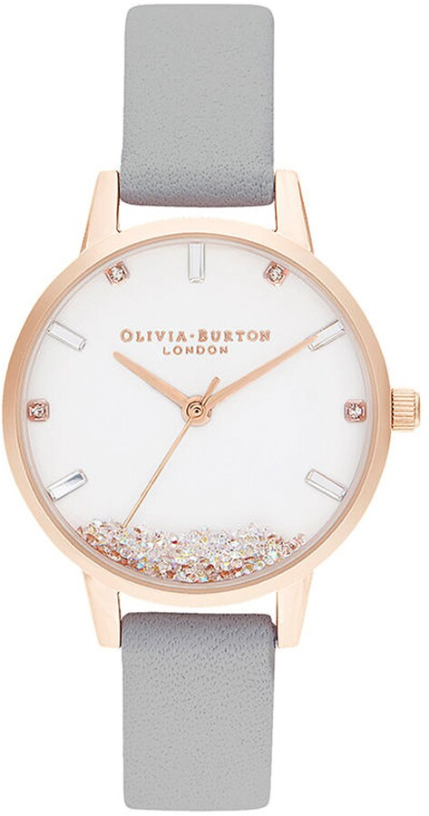 Olivia Burton Oliva Burton Wishing Leather Strap Watch, 30mm