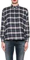 Xacus Blue/white Rita Checked Shirt