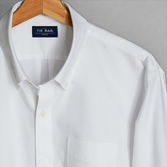 Tie Bar The Modern-Fit Oxford White Casual Shirt
