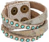 Leather Rock B622 Bracelet