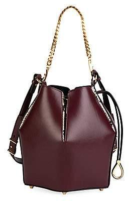 Alexander McQueen Women's Small Leather Bucket Bag