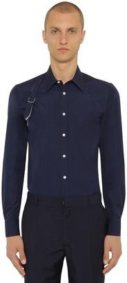 Alexander McQueen Cotton Poplin Shirt W/ Harness Detail