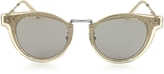Bottega Veneta BV0117S 004 Ruthenium Metal Frame Unisex Sunglasses
