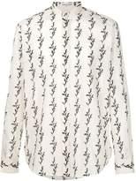 Saint Laurent floral ikat printed shirt