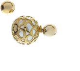 Carole White & Goldtone Peek-a-Boo Double-Sided Stud Earrings