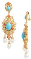 Ben-Amun Women's Chandelier Clip Earrings