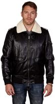 X-Ray Men's XRAY Sherpa-Collar Faux-Leather Bomber Jacket