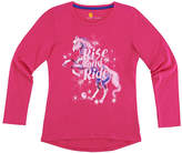 Carhartt Pink Peacock 'Rise and Ride' Hi-Low Tee - Girls