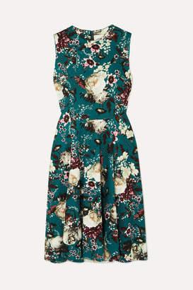 Erdem Dylanne Floral-print Stretch-jersey Dress - Jade